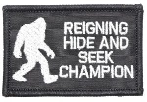 Reigning Hide And Seek Champion - by Tactical Gear Junkie - Morale Patch