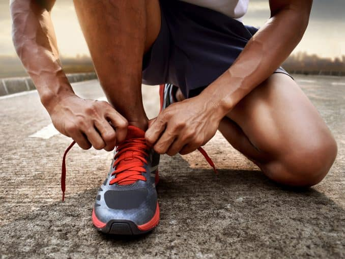Tying shoes before running - how to get started running