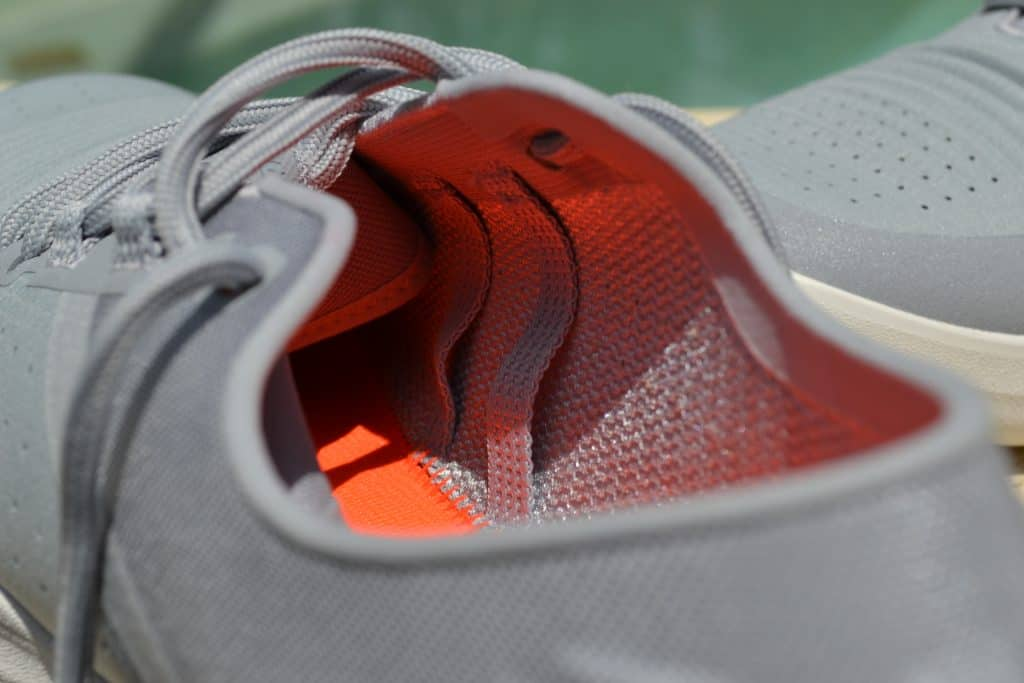 UA TriBase Reign - showing the structure supports inside the shoe that integrates with the laces.